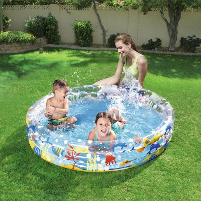 152*30 cm trois anneaux enfants pataugeoire gonflable piscine ronde infantile baignoire sable piscine balle piscine