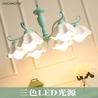 Simple Retro Living Room European Style Garden Restaurant Wrought Iron Chandelier Bedroom Chandelier Led