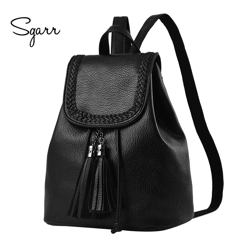 цены  SGARR High Quality PU Leather Backpack Women Fashion Small School Bags For Teenager Girls Mochila New Casual Students Travel Bag
