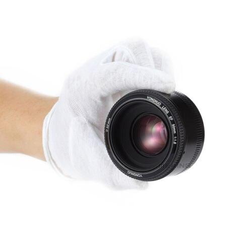D'origine YONGNUO 50mm f1.8 Caméra Lentille lentilles Grande Ouverture Auto Focus pour Canon 5DII 5 DIII 5D 500D 400D 650D 600D 450D 60D 7D - 2