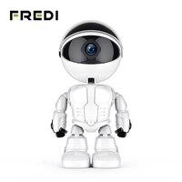 FREDI 1080 P المنزل الأمن روبوت السيارات تتبع كاميرا كاميرا تلفزيونات الدوائر المغلقة لاسلكي واي فاي مراقبة الطفل كاميرا مراقبة بالرؤية الليلية
