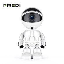 Фреди 1080 P Домашняя безопасность робот камера с функцией автоматического слежения камера видеонаблюдения беспроводная Wi Fi видеоняни и радионяни ночное видение камеры скрытого видеонаблюдения
