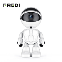 FREDI 1080P Home Security Robot Auto Tracking Camera CCTV Camera Wireless WiFi Baby Monitor Night Vision Surveillance Camera