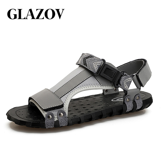 GLAZOV Brand New Summer Fashion Men's Beach Sandals Outdoor Shoes Roman Men Casual Shoes Lighted Slip On Flip Flops Good Quality
