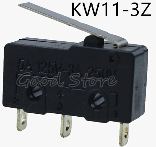 10pcs Tact Switch KW11-3Z 5A 250V Microswitch Round Handle 3PIN good
