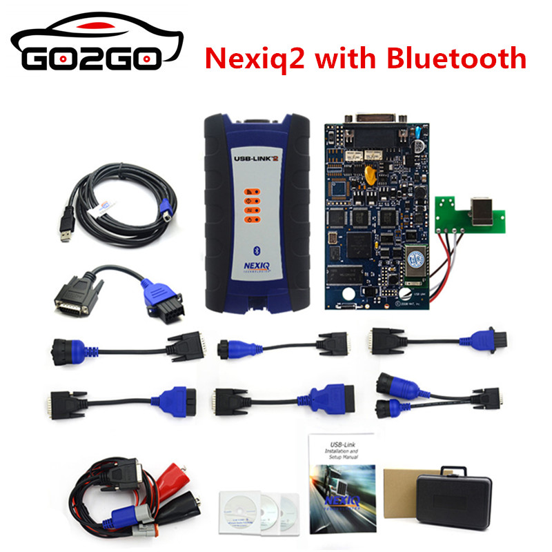 NEXIQ 2 USB Link NEXIQ2 Bluetooth Diesel Truck Diagnostic Tool With Bluetooth NEXIQ USB Link Heavy Duty Truck Better Than DPA5-in Auto Key Programmers from Automobiles & Motorcycles