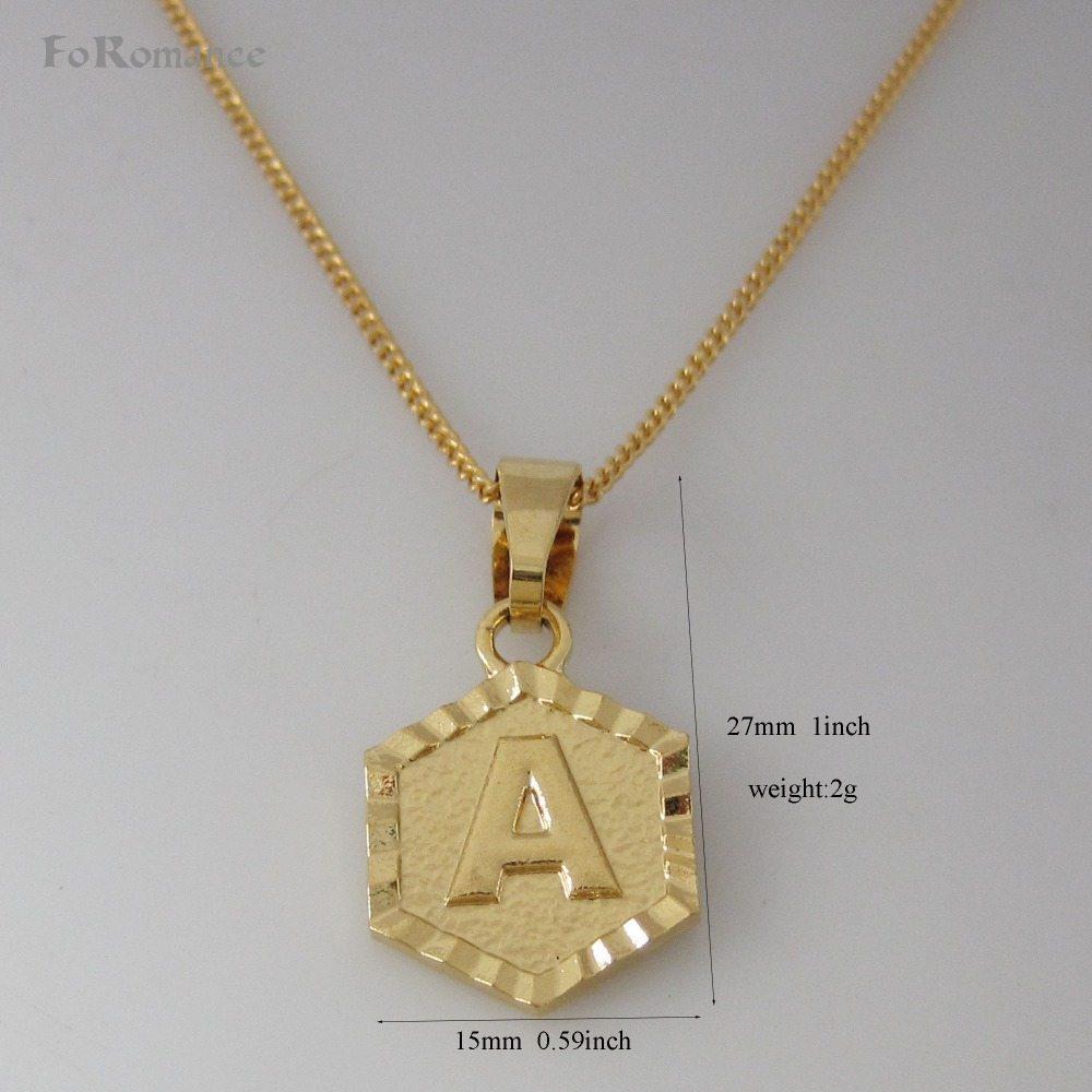 "Min Order 10$ /26 LETTERS GOLD GP 18"" NECKLACE&LETTER A B"