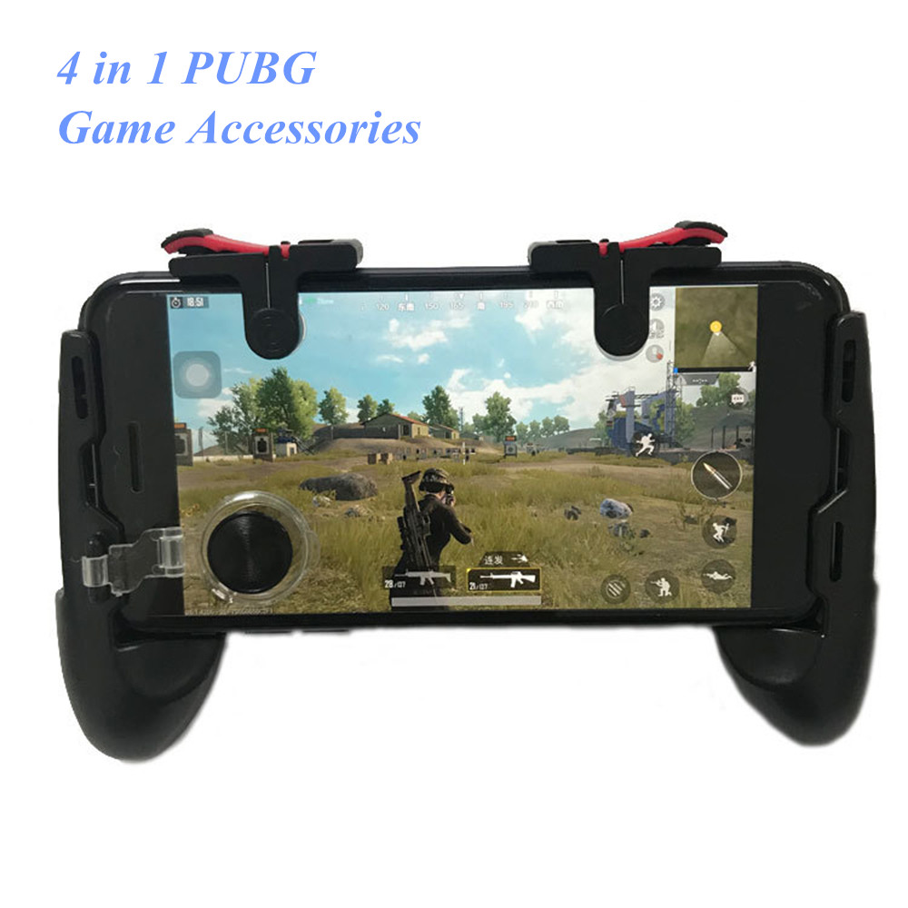 4 in 1 PUBG Mobile Controller Game Pad Joystick L1 R1 Triggers PUGB Mobile Gamepad Free Fire Joystick for iPhone Android image