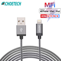 IPhoneX/XR/XS CHOETECH applied for MFI Lightning 2.4A high speed charging cable