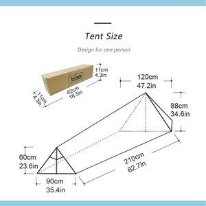 Image 5 - Туристическая палатка A Tower, на 1 человек, водонепроницаемая одноместная двухслойная, 20D силиконовая, Ультралегкая, для одного лагеря