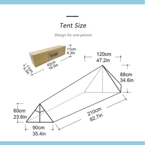 Image 5 - A Tower Outdoor Camping Tent for 1 Person Backpacking Waterproof Single Solo Bivvy Tent 20D Silicone Camp Ultralight Tent 1 Man