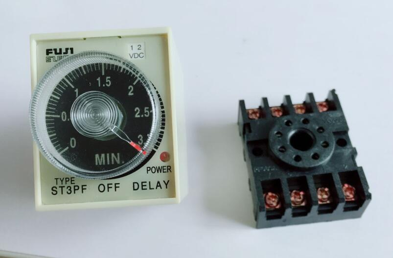 10 Set 220V 110V AC DC 24V 12V Power Off Delay Timer Time Relay 0 60S