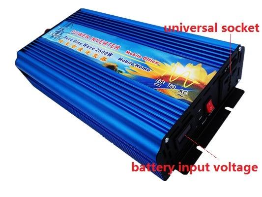 digital display 2500w pure sine wave power inverter 12V/24V DC input to 110V/120V/220V AC output peak power 5000W 5KW inverter