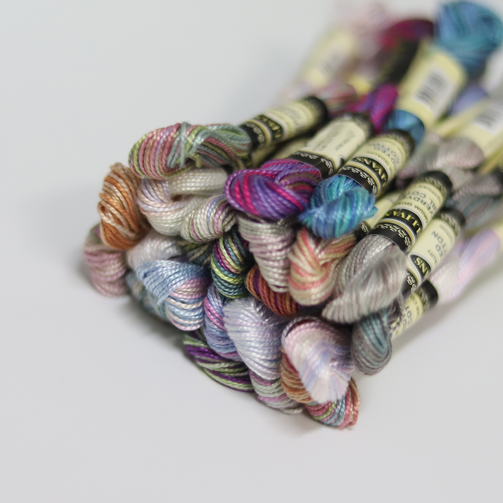 25 New Metallic Hand Embroidery MultiColoured Skeins High Quality 25 Different Colours