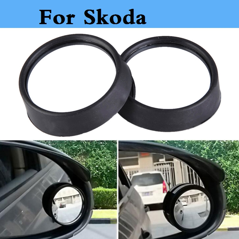 car Wide Angle Round Convex Auto Rearview Mirror Blind Spot for Skoda Citigo Fabia Fabia RS Octavia Octavia RS Rapid Superb Yeti