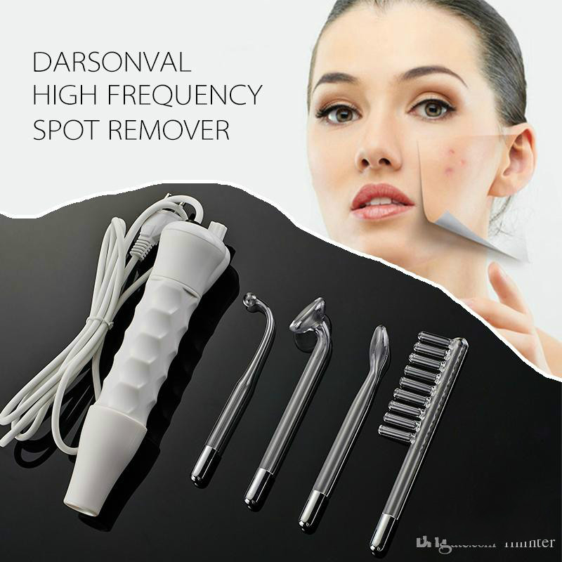 Portable Darsonval High Frequency Facial Machine Face Skin Care Facial Massager Device 4 Electrode Professional Kit deep face cleansing brush facial cleanser 2 speeds electric face wash machine