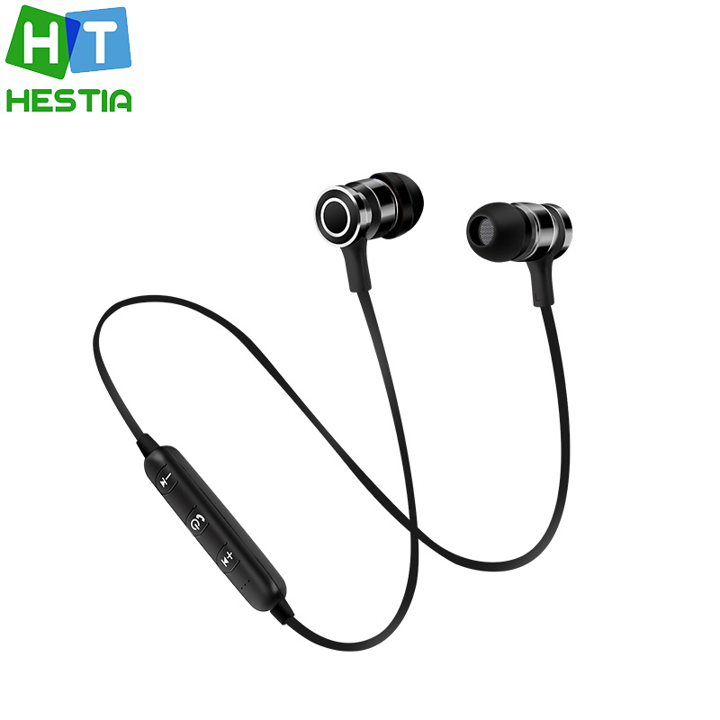 V4.1 Wireless Bluetooth Earphones Sport Running Headset Stereo In-ear Magnet Earbud With Mic For iPhone xiaomi PK Awei A920BL
