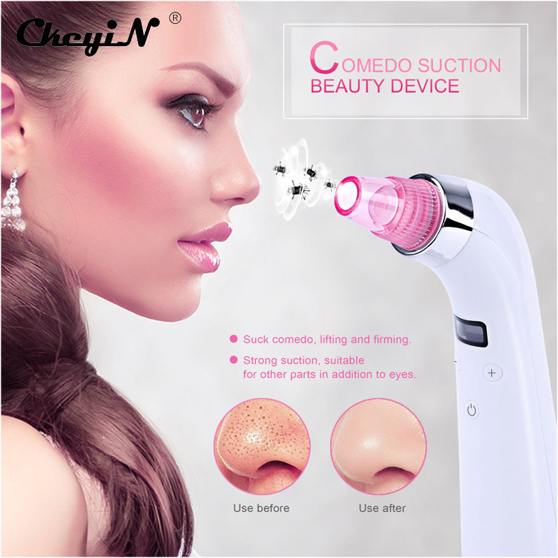 CkeyiN Facial Pore Cleanser Blackhead Acne Removal Vacuum Suction Machine Lift Face Dermabrasion Microdermabrasion Skin Peeling