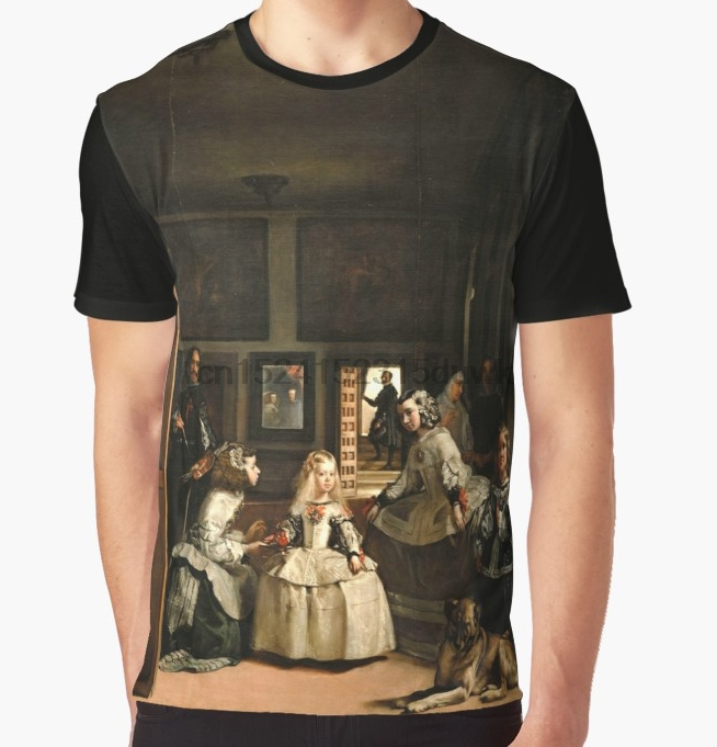 All Over Print T-Shirt Men Funy Tshirt Diego Velazquez Short Sleeve O-Neck Graphic Tops Tee Women T Shirt