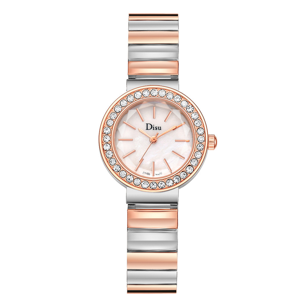 DISU Vente Chaude De Mode De Luxe Femmes Montres Femmes Bracelet Montre Watch Crystal Stainless Steel Women Watches Luxury