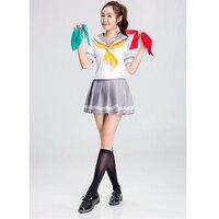 SESERIA Adult Women Schoolgirl Costume Cosplay High School Girl Outfit Halloween Student Costume