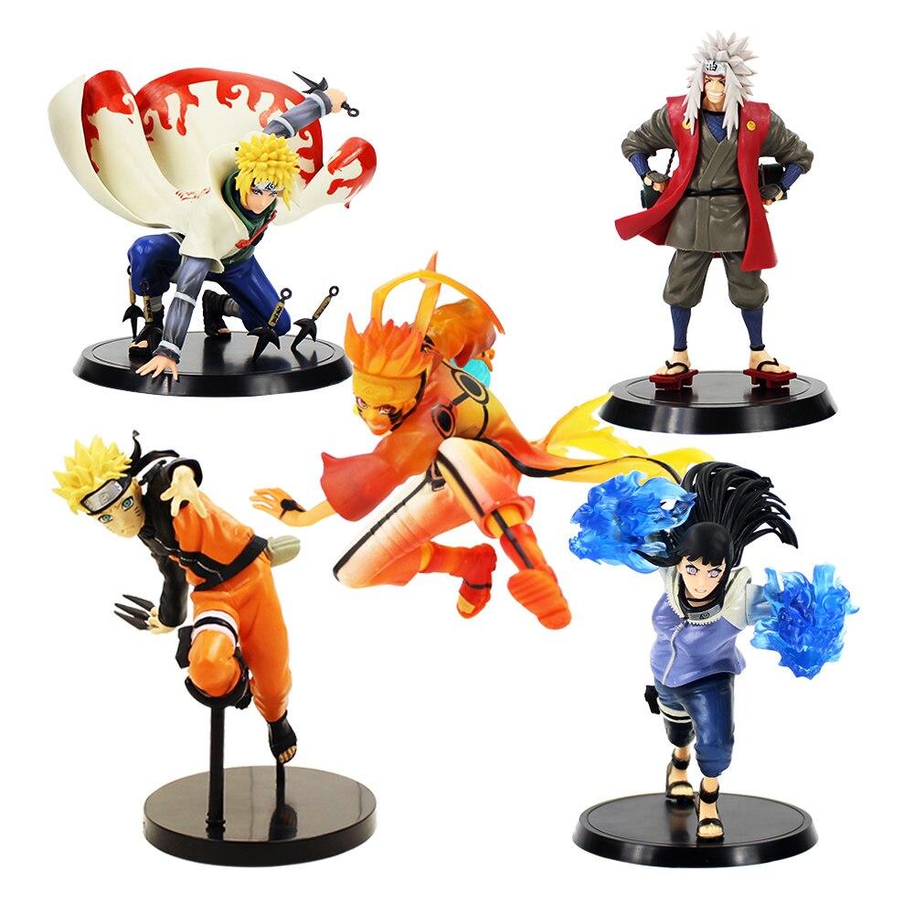 5Styles 14-18cm Naruto Figure Ninja Minato Jiraiya Hyuga Naruto Kurama Shippuden PVC Action Figure Toy Collectible Model Gift 11pcs set uzumaki naruto pvc action figures bijuu kyuubi kurama gaara shukaku utakata mini collectible dolls toy for children e