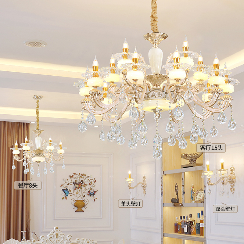Classic Crystal Chandeliers For Living Room Ceiling Chandeliers Modern Lighting Dining Room Decoration Crystal Chandelier Lamp