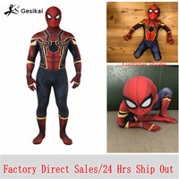 Spiderman Costume Spiderman Homecoming Cosplay Costume Tom Holland Iron Spider Man Suit disfraz Factory Sales