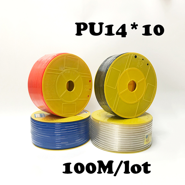 PU tube 14*10mm air pipe to air compressor pneumatic component  red 100m/roll