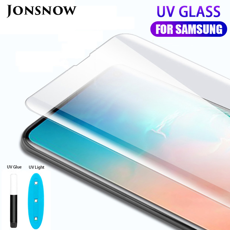 UV <font><b>Tempered</b></font> <font><b>Glass</b></font> For <font><b>Samsung</b></font> S10 Plus S10e S9 S8 Plus <font><b>Note</b></font> 8 <font><b>Note</b></font> <font><b>9</b></font> <font><b>Full</b></font> Liquid <font><b>Glue</b></font> Screen Protector Protective <font><b>Glass</b></font> image