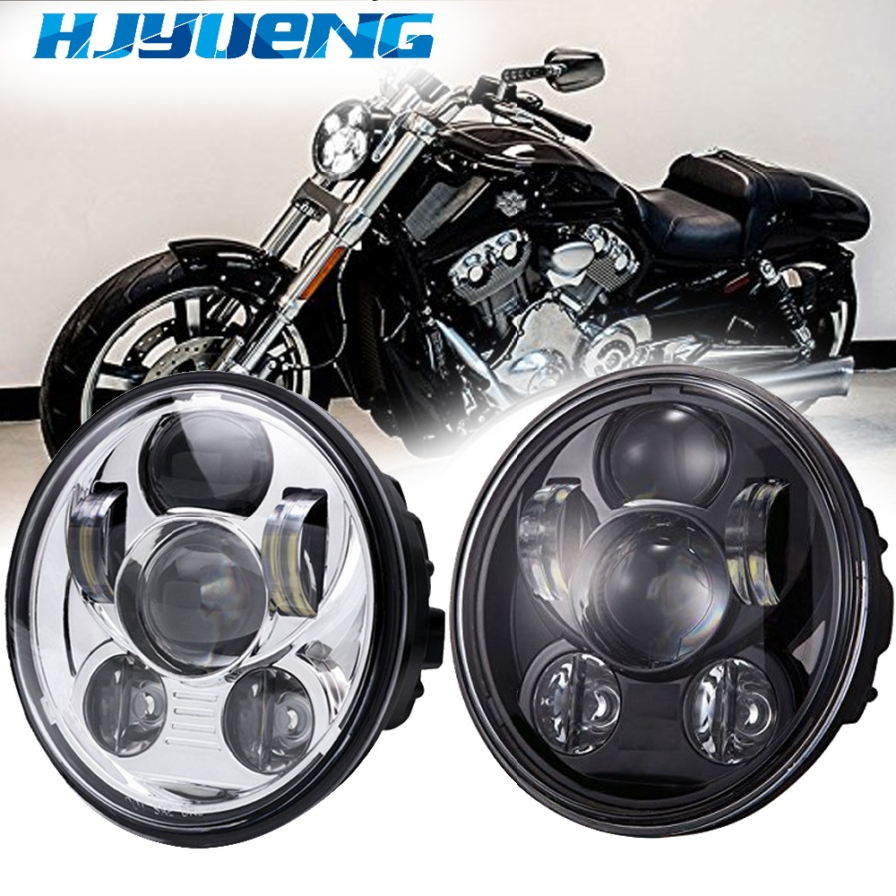HJYUENG For Harley Sportster XL 883 1200 motorcycle 5-3/4inch 5.75 approved LED H4 headlight moto projector Day Maker lamp