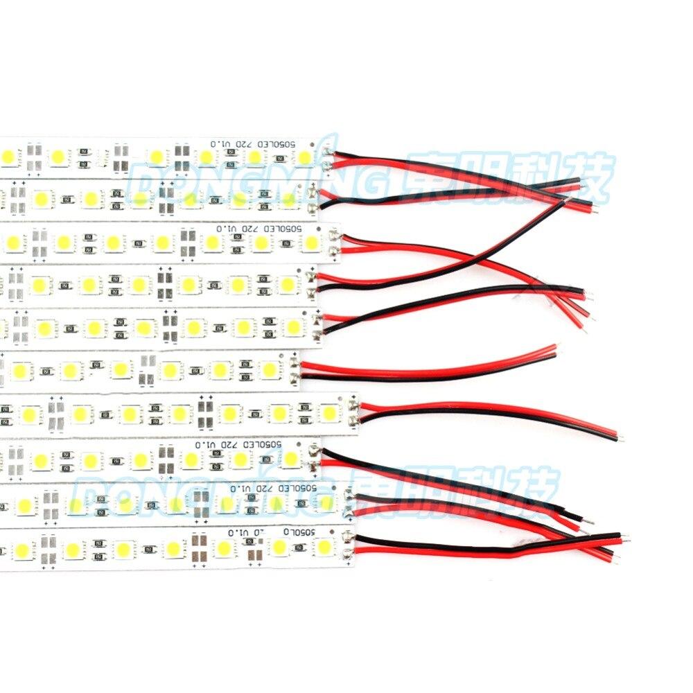 1m tira de luces LED SMD 5050 IP22 12V perfil de aluminio led barra de luz tira dura bajo armario cocina iluminación Tira de LED SMD 2835 60led ip22 12v murió
