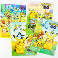 Anime Pikachu Coloring Book + Stickers Pikachu Jirachi Fennekin Froakie Chespin Dedenne Toys Children Education Painting Book