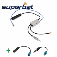 Superbat FM AM To DAB FM AM Car Radio Aerial Amplifier Converter Splitter And Fakra To