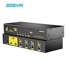 4 Portas USB KVM Switch, SGEYR Switch kvm HDMI 4 em 1 Suporte 1080 P 3D PC Mouse Teclado Switcher para Servidor de Computador Laptop