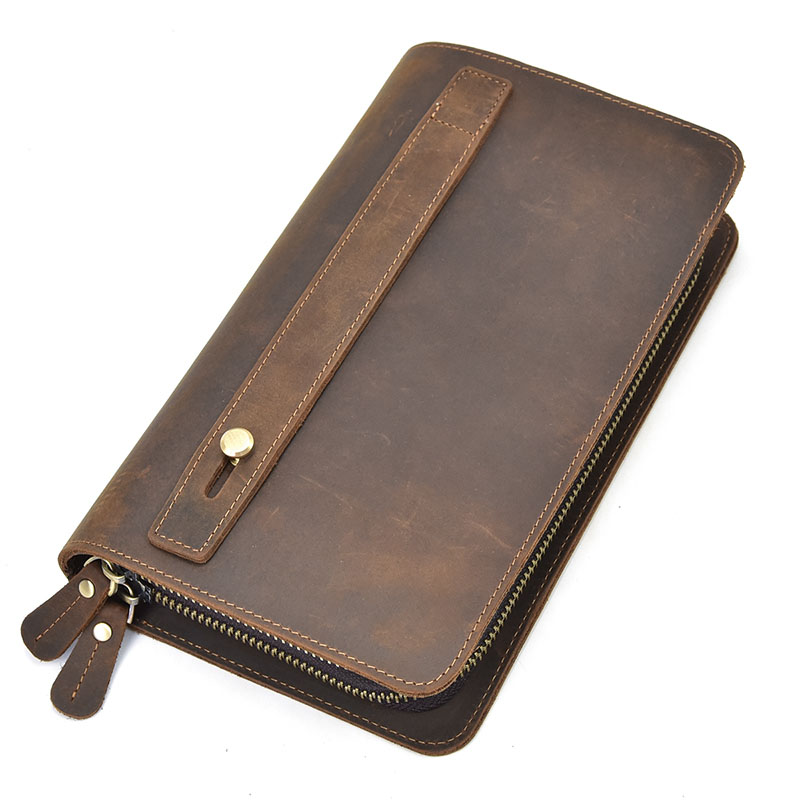 Genuine Leather Double Layers Wallet for Men with Photo Pocket Zipper Purse Card Holder Good Quality Male WalletGenuine Leather Double Layers Wallet for Men with Photo Pocket Zipper Purse Card Holder Good Quality Male Wallet