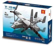 Model building kits compatible with lego Osprey tilt-rotor 3D blocks Educational model building toys hobbies
