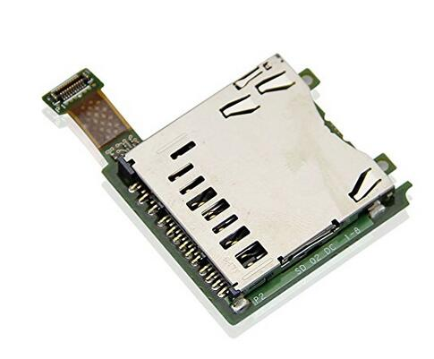 For Nintendo 3DS SD Card Slot Replacement Parts used Free Shipping