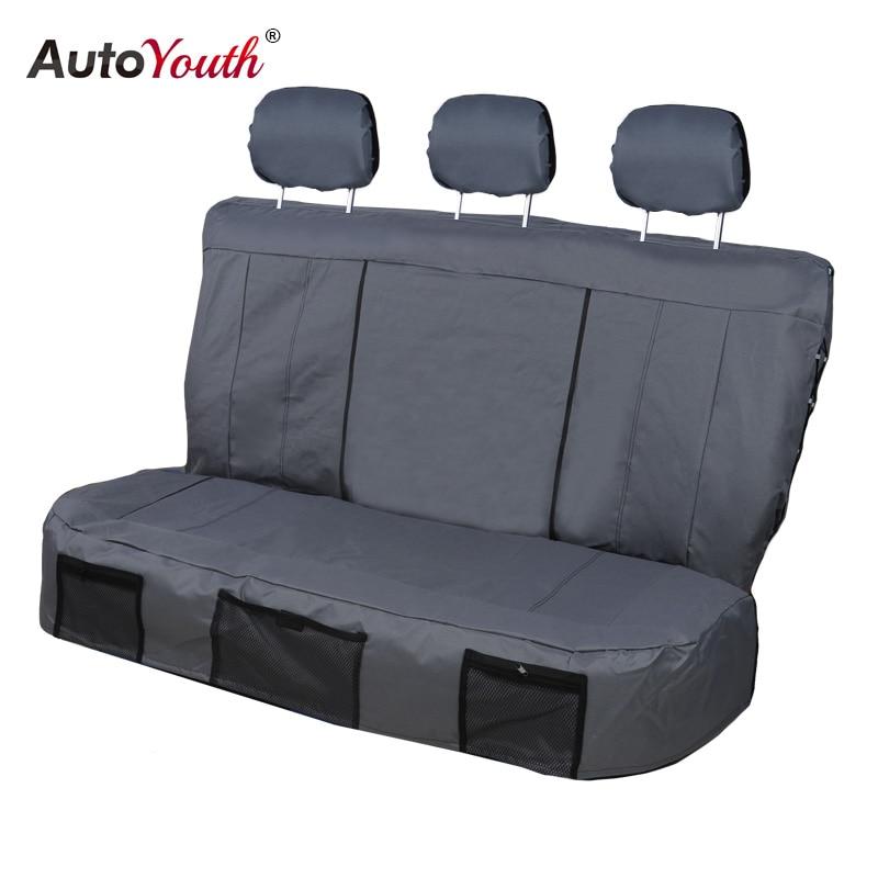 AUTOYOUTH housses de siège auto 3 couleurs housses de siège arrière tissu Oxford Durable style de voiture adapté à la plupart des nouveaux accessoires d'intérieur de voitures - 3