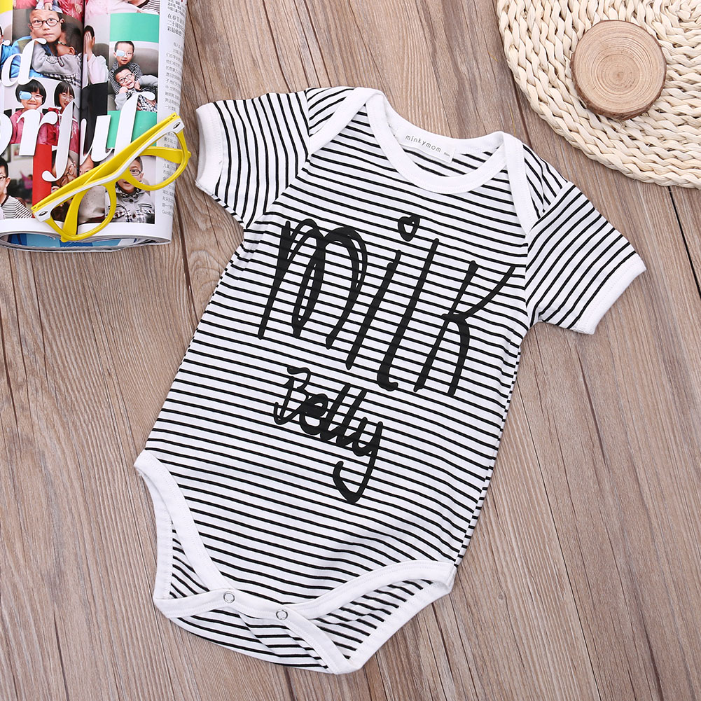 New Letter Print Baby Kids Boys Girls Cotton Romper Jumpsuit One-peice Playsuit