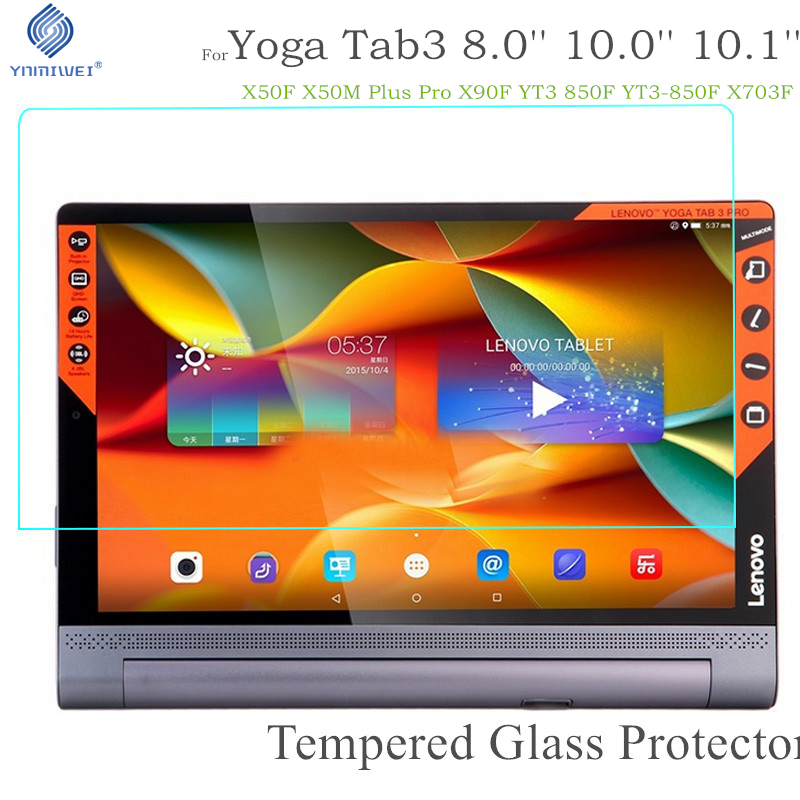 Lenovo Yoga Tab 3 üçün Yoga Tab 3 Tempered Glass 8.0 850F 850M 850L YT3 X50F X50M Plus Pro X90 X90F Tablet Ekran Qoruyucu Film