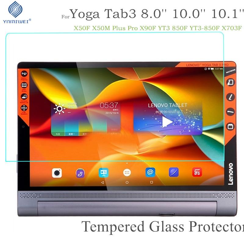 Yoga Tab 5 Tempered Glass For Lenovo Yoga Tab 3 8.0 850F 850M 850L YT3 X50F X50M Plus Pro X90 X90F Tablet Screen Protector Film
