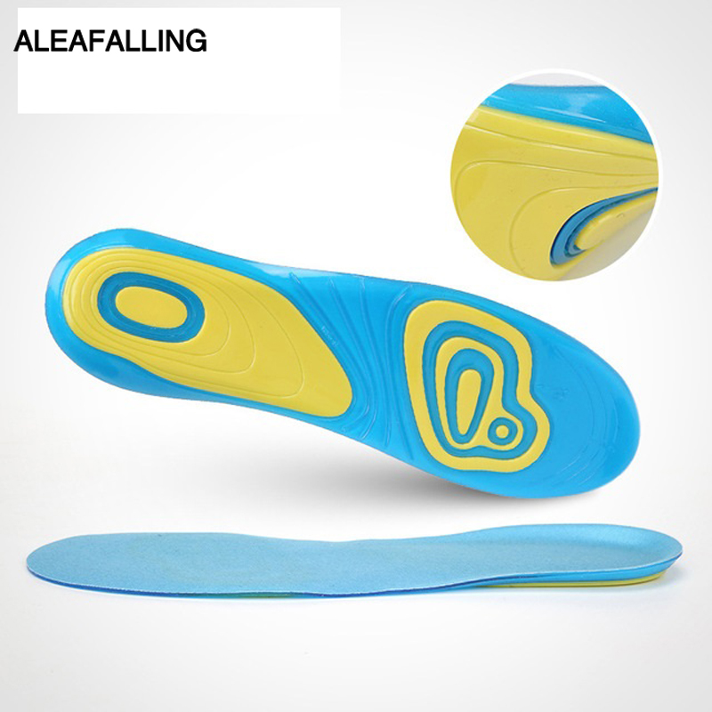 Aleafalling Soft Insoles Professional Cushion Foot Care Shoe Inserts Light Shoe Gel Eva Deodorant Orthotic Silicone Insole Is04