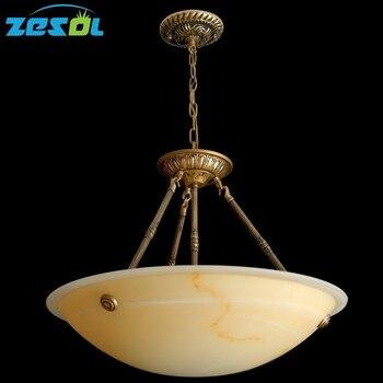 ZESOL candelabro de hierro antiguo iluminación de bronce luz sala de estar cama lámpara de habitación