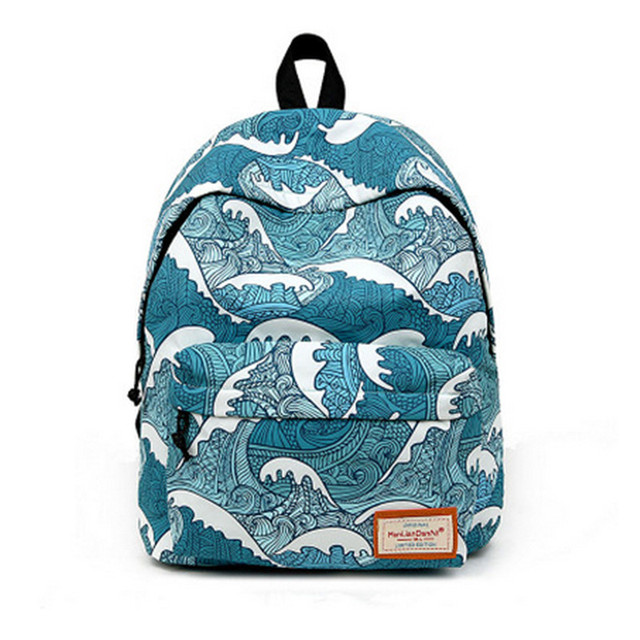 US $15 86 50% OFF|Fashion colorful corrugated printing anime polyester  material ladies men's backpack school laptop bag teenage girl travel bag-in
