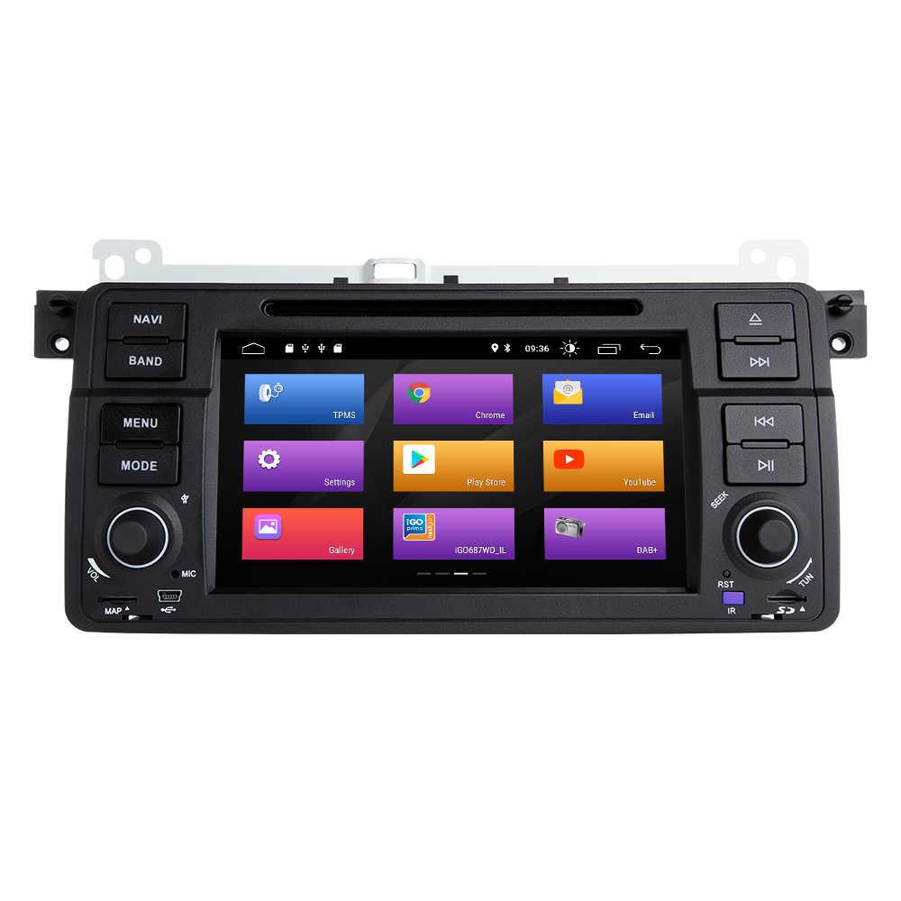 Josmile Автомобильный мультимедийный плеер 1 Din Android 9,0 для BMW E46 M3 Rover 75 Coupe навигация gps DVD Автомагнитола 318/320/325/330/335