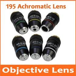 4X10X20X40X60X100X195 biomikroskopu System Bio mikroskop mikroskop biologiczny laboratorium laboratorium achromatyczne soczewki obiektywu