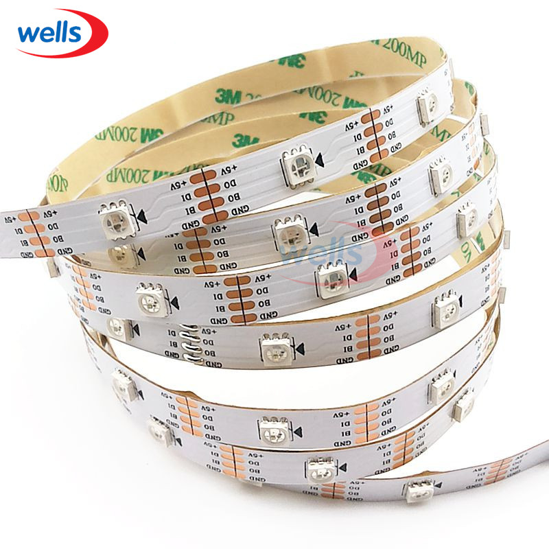 new DC5V 1m/4m/5m 30/60 leds/m WS2813(WS2812B Updated)WS2813 IC Smart LED Pixel Strip Black/White PCB IP30/IP67 LED Light Strip цена
