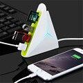 Alta Calidad de Alta Velocidad Universal de luz LED Mini 3 en 1 USB 2.0 centros de 3 Puertos HUB USB Con Lector de Tarjetas SD TF Mico SD 94 cm Cable