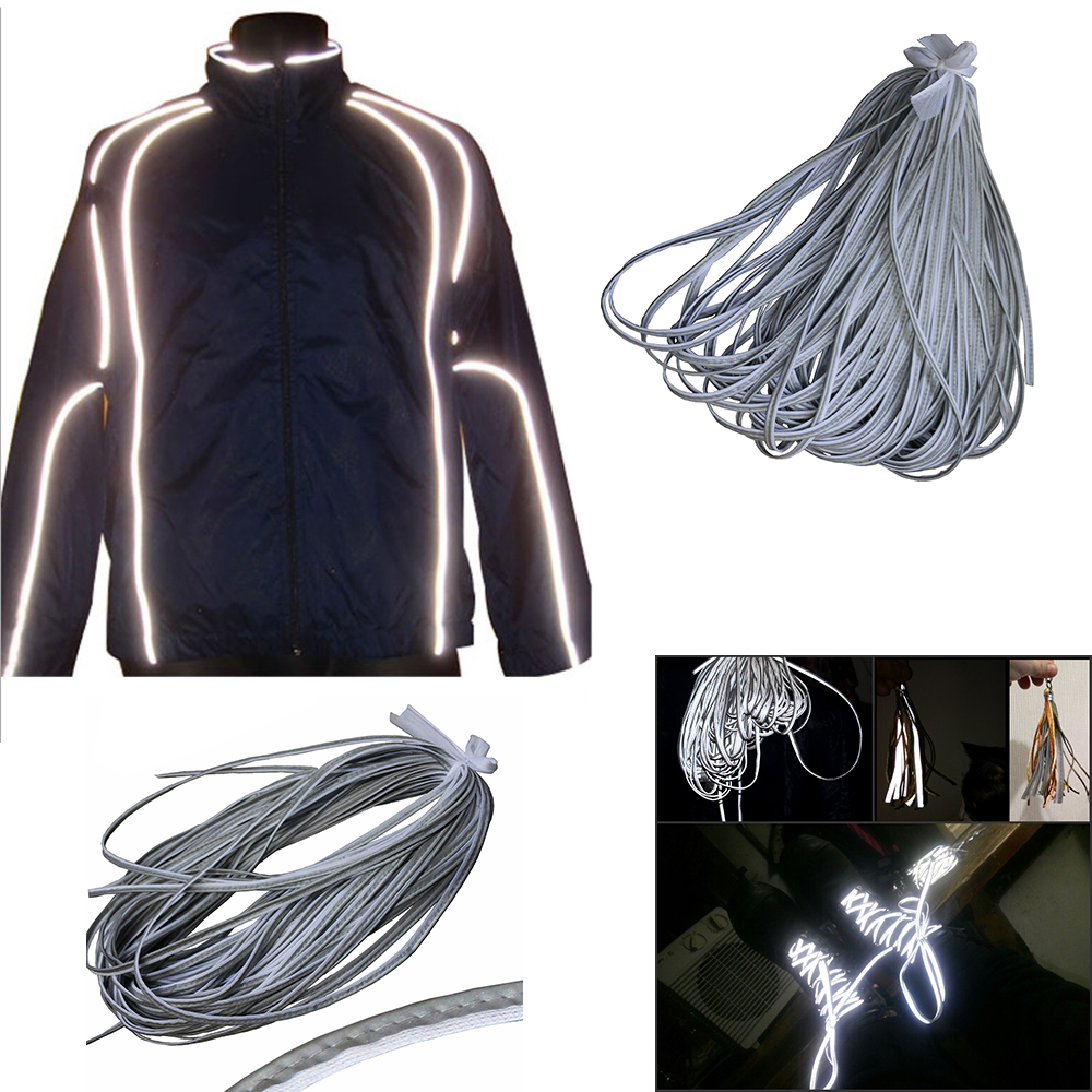 Arts,crafts & Sewing Diy Craft Supplies Bright Silver Reflective Sewing Material Piping Fabric Strip Edging Braided Trim 10mm Top Quality Cool In Summer And Warm In Winter
